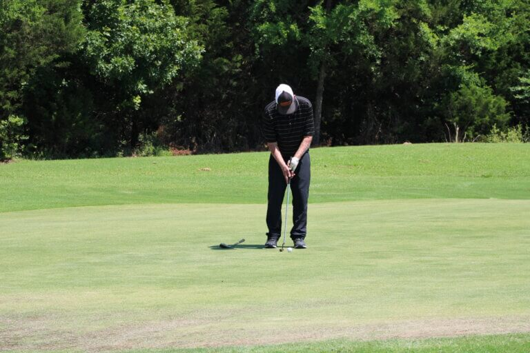 Can you stand too close to the golf ball?